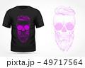 Angry skull on t-shirt 49717564
