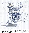 Sketch hipster skull 49717566