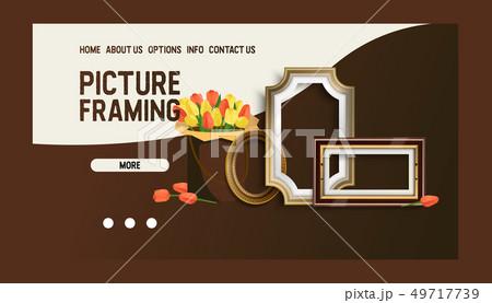 Picture framing banner web design vector illustration. Online shopping. Buying fillets in Internet 49717739