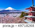 (山梨県)日本の美・桜と雪・新倉山浅間公園から望む富士山 49718268