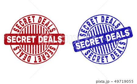 Grunge SECRET DEALS Textured Round Stamps 49719055