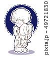 祈りの子供・天使のイメージ(横顔) 49721830