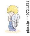 祈りの子供・天使のイメージ(横顔) 49721831