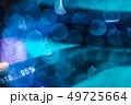ボケ95%青背景。テクノロジー/アルゴリズム/AI/バイオロジーイメージ。アブストラクト素材 49725664