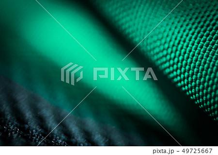 緑の繊維クローズアップ。テクノロジー/バイオロジー/統計・分析イメージ。アブストラクト素材 49725667
