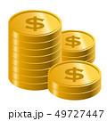 お金 コイン 通貨のイラスト 49727447