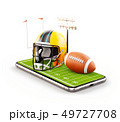 Unusual 3d illustration of an American football 49727708