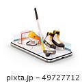 Unusual 3d illustration of hockey equipment  49727712