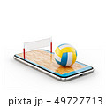 Unusual 3d illustration of a volleyball  49727713