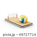 Unusual 3d illustration of a volleyball ball 49727714