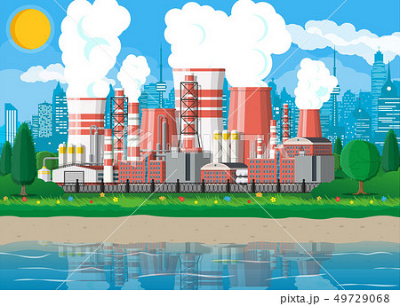 Industrial factory, power plant. 49729068