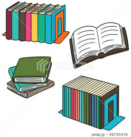 vector set of book 49730376