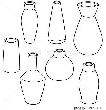 vector set of vase 49730519