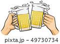 ビールジョッキを持つ手 49730734