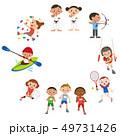 オリンピックでの競技イラスト 49731426