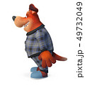 3d illustration Funny dog in pajamas 49732049