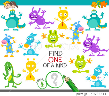 one of a kind game with cartoon monsters 49733611