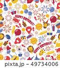 バースデー 誕生日 幸せのイラスト 49734006