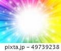 集中線 フレーム 光のイラスト 49739238