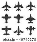 航空機 飛行機 アイコンのイラスト 49740278