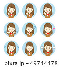 高校生 中学生 表情のイラスト 49744478