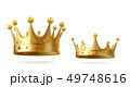 Golden realistic king or queen crown set with gems 49748616