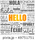 Hello word cloud collage in different languages 49751751