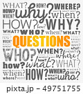Questions word cloud background 49751755