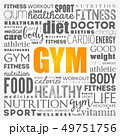 GYM word cloud collage background 49751756