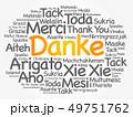 Danke (Thank You in German) word cloud 49751762