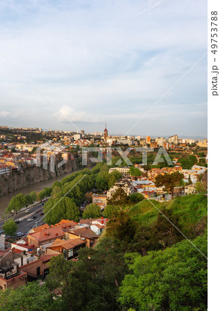 Panorama view of Tbilisi from Narikala fortress. 49753788