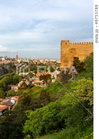 Panorama view on Tbilisi from Narikala fortress. 49753789