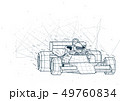 Abstract Formula One Low Poly Wireframe 49760834