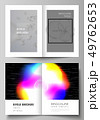 Vector layout of two A4 format cover mockups design templates for bifold brochure, flyer, report 49762653