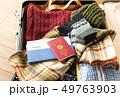 スーツケース 冬 旅行 出張 パスポート セーター 49763903