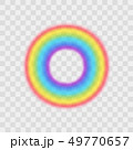Realistic Detailed 3d Rainbow on a Transparent Background. Vector 49770657