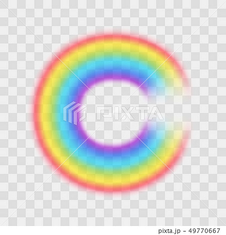 Realistic Detailed 3d Rainbow on a Transparent Background. Vector 49770667