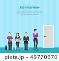 Cartoon People Waiting Job Concept Scene. Vector 49770670