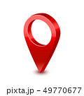 Realistic Detailed 3d Red Map Pointer Pin. Vector 49770677