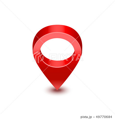 Realistic Detailed 3d Red Map Pointer Pin. Vector 49770684