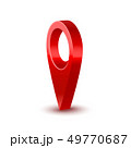 Realistic Detailed 3d Red Map Pointer Pin. Vector 49770687