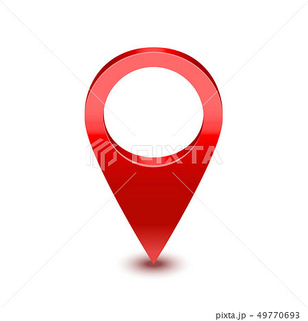 Realistic Detailed 3d Red Map Pointer Pin. Vector 49770693