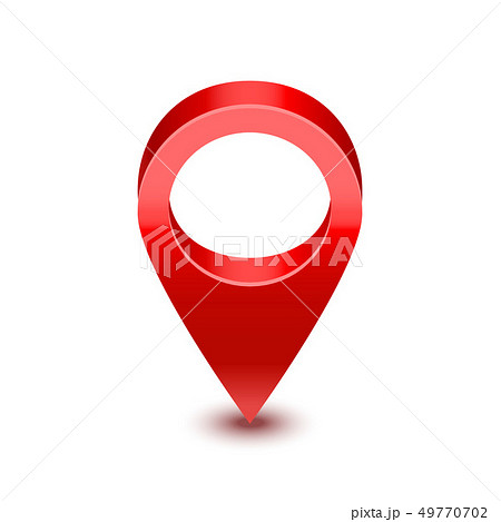 Realistic Detailed 3d Red Map Pointer Pin. Vector 49770702