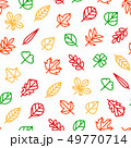 Leaf Signs Thin Line Seamless Pattern Background. Vector 49770714