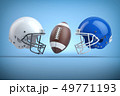American football helmets and ball.Final match 49771193