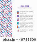 HIV and AIDs concept with thin line icons 49786600