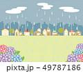 雨の街並み 49787186