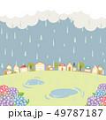 雨の街並み 49787187