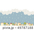 雨の街並み 49787188