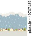 雨の街並み 49787189